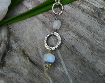 Moonstone & Sterling Pendant