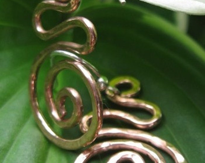 Hammered Copper Wire Earrings