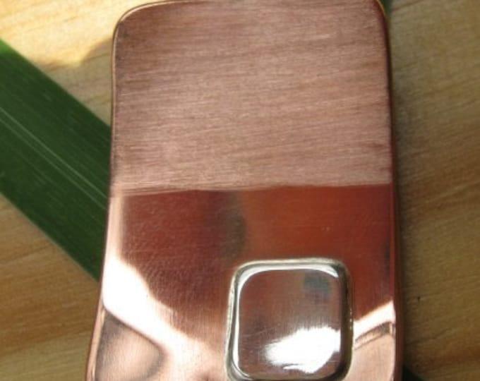 Copper-Silver Two Tone Pendant