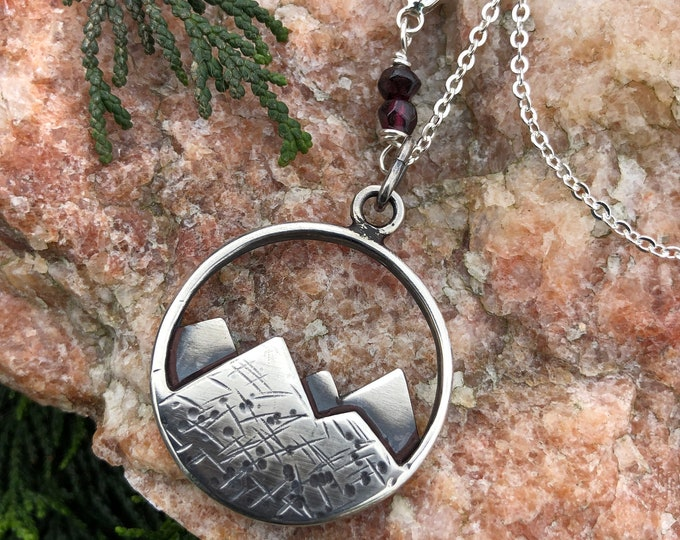 Sterling Mountain Necklace