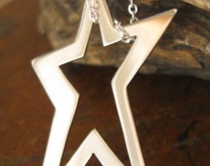 Sterling Star Light Pendant Necklace