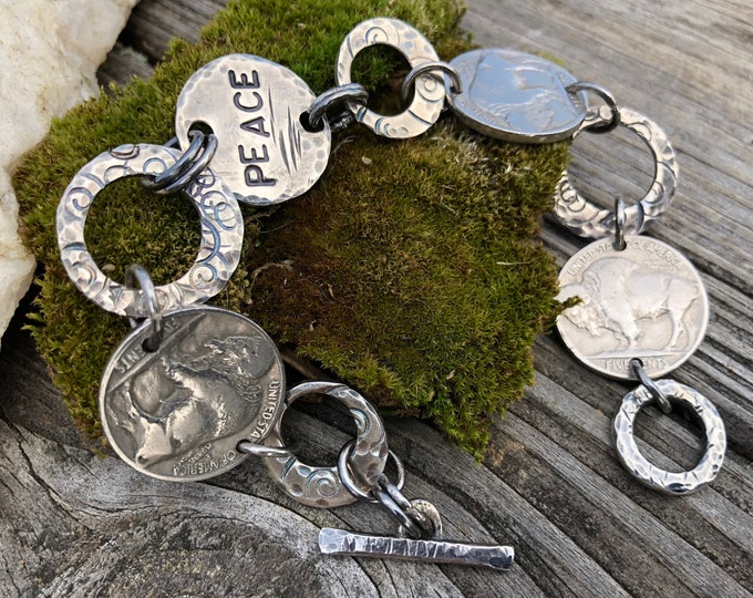 Sterling & Buffalo Nickel Bracelet