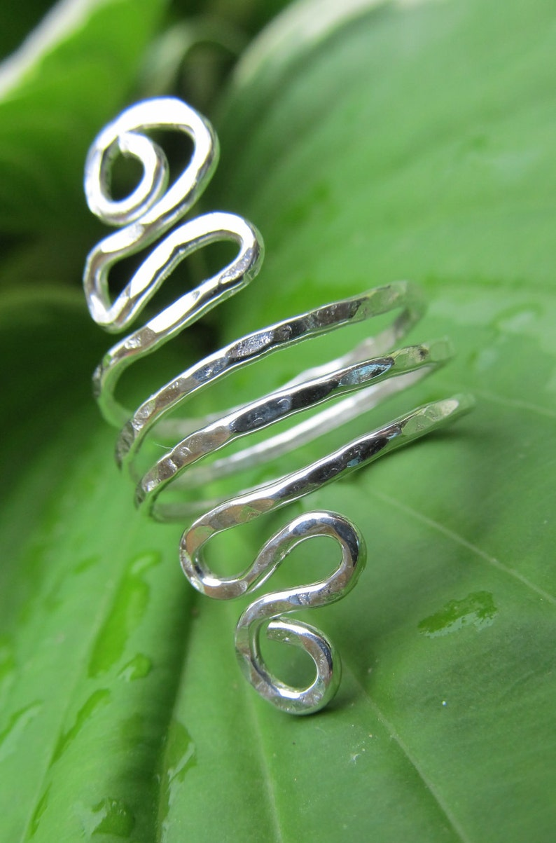 Twisted Sterling Wire Ring image 0