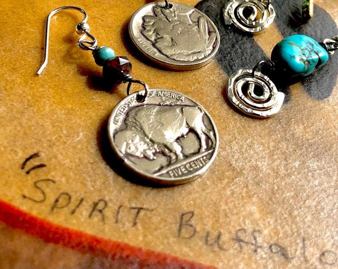 Buffalo Nickel & Sterling Earrings