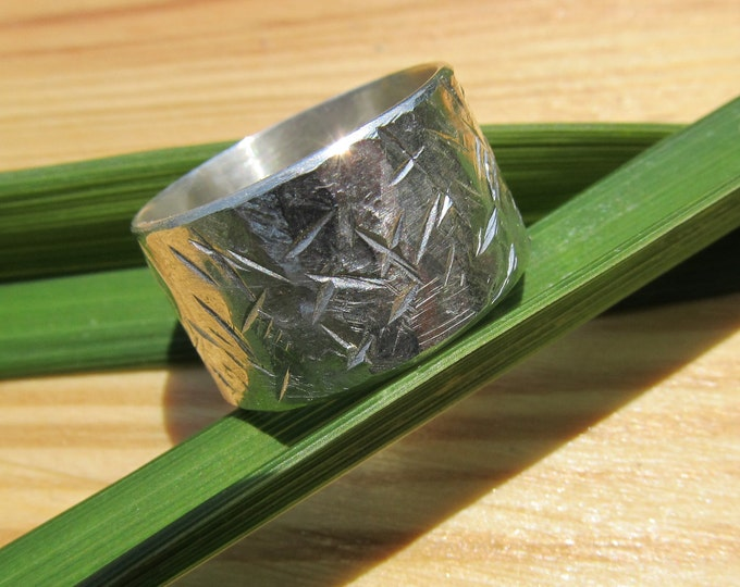 Textured Sterling Band