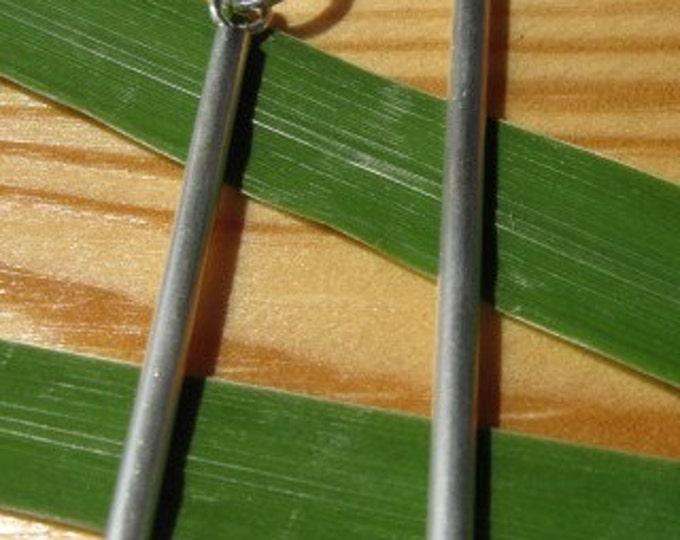Sterling Silver Stick Earrings