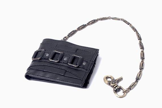 Bi-Fold leather wallet DARK STAR Wallet Jan Hilmer Black leather wallet Custom Brass Hardware