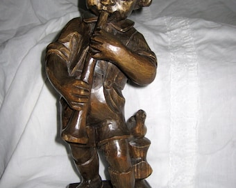 large hand carved German Boy in Alpine-SALE 14 inches high