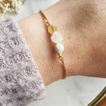 Lava and rose quartz essential oil bracelet, essential oil bracelet, adjustable gold bracelet