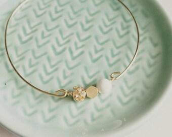 Lava rock bangle, essential oil bracelet, delicate modern jewelry