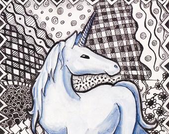 Tangled Unicorn Painting