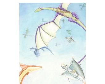 Dragon Riders - Print