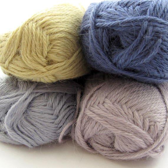 Skacel Riviera Yarn Cotton//linen//rayon Blend Lot Of 6