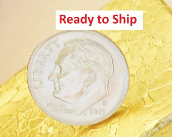 10th Anniversary Gift for Man, READY To SHIP Dime Tie Tack: 10 Year Gift for Men; Last Minute, Coin Pin, Tenth, Tin, 2011 2021, UNCIRCULATED