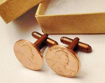 21st Birthday Gift For Him Born In 1998 Age 21 Years Old Boyfriend Son Male Men 2019 Penny Cufflinks Cuff Links READY To SHIP