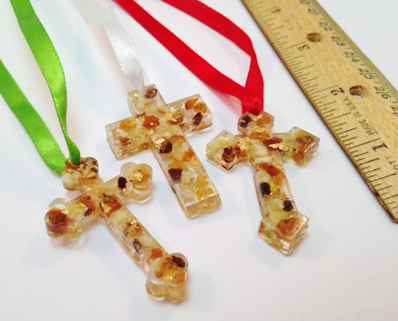 Gold Frankincense And Myrrh Christmas Gifts.Christian Ornament Real Gold Frankincense Myrrh Resin