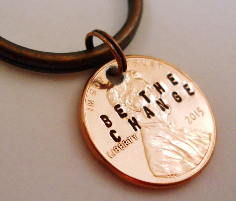Be The Change Keychain: Inspirational Graduation Gift image 0
