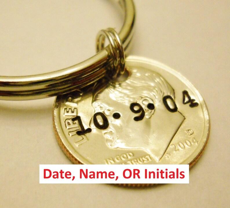Personalized Keychain: 10th Birthday 10 Year Anniversary image 0