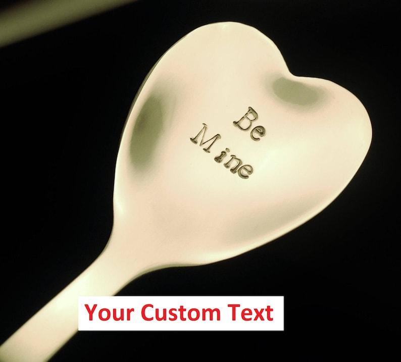 Stamped HEART Spoon: Custom Spoon Romantic Gift Tea Lover image 0
