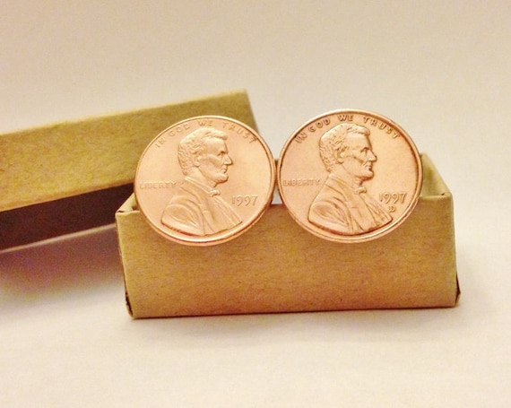 1998 Penny Cufflinks 21 Year Anniversary For Husband Father 21st Birthday Gift Man Brother Him Wedding Dad Turning