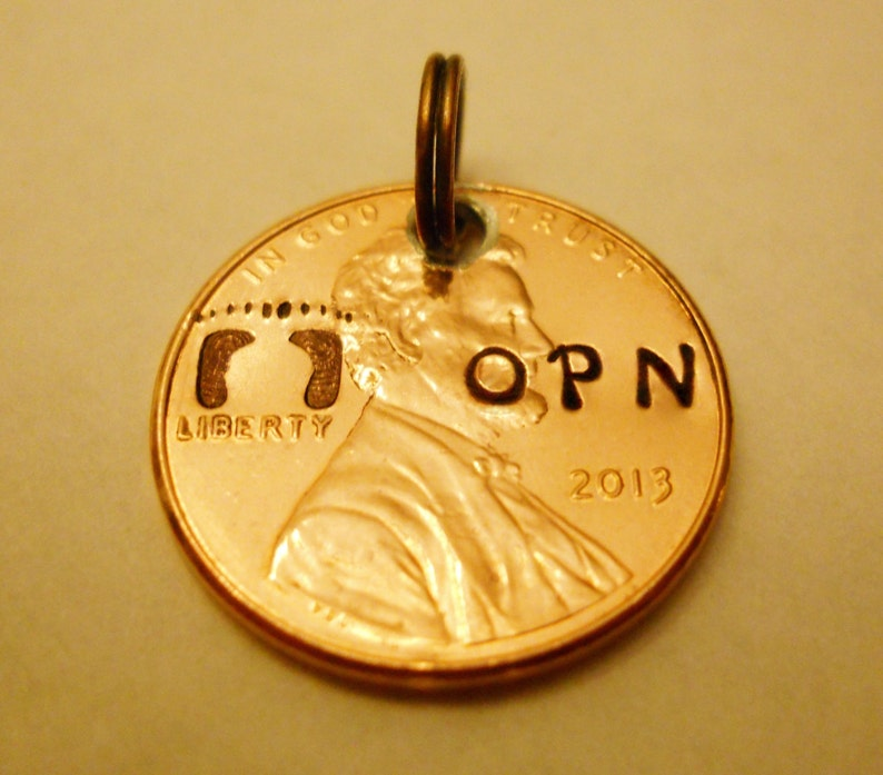 New Baby Keychain Charm: Personalized Baby Initials image 0