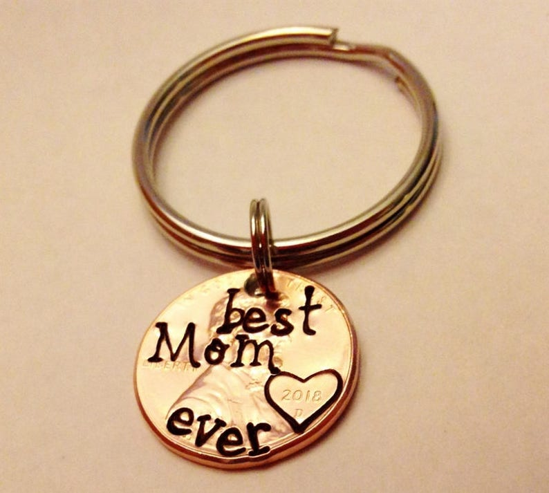 Best Mom Ever Keychain: Mother's Day Gift Mom Gift Mama image 0
