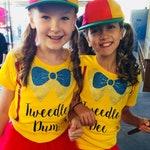 Tweedle Dee and Tweedle Dum Costume Girl Shirts for Halloween