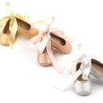 Baby Girl Ballerina Shoes, Rose Gold Baby Shoes, Baby Girl Gold Shoes, Silver Baby Shoes