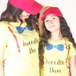 Mommy and Me Shirts, Disney Park Shirts Tweedle Dee and Tweedle Dum, Mommy and Me Costume, Sister Shirts, Alice in Wonderland, Best Friends