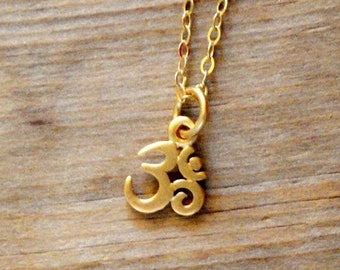 Custom Order - 5 Om Charms - 24K Gold Plated Sterling Silver