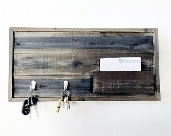 Barn Wood key rack  and mail holder