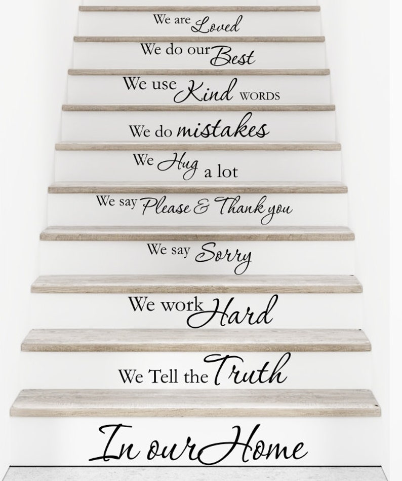 Vinyl Wall Decal In Our Home   Staircase, Stairway, Stairs Decor Stair  Sticker Stair Quote Decal D82