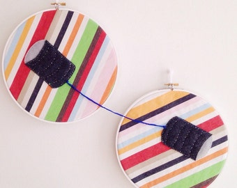 Tin Can Phone Hoop Embroidery