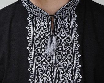 Ukrainian Souvenir Embroidered T-Shirt for Girls Vyshyvanka Embroidery T-Shirt