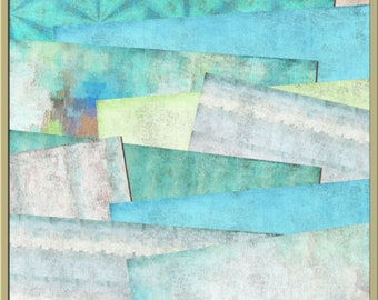 Seaside Retreat Digital Papers - Blue,Green, Seaside,Sea 12 x 12 papers - INSTANT DOWNLOAD