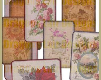 Empherma Feminine Digital Journal Cards - INSTANT DOWNLOAD - Flowers Floral Vintage Heritage Ancestral