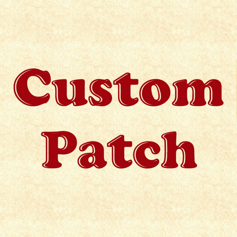 Custom Patch Design  Made from your image image 0