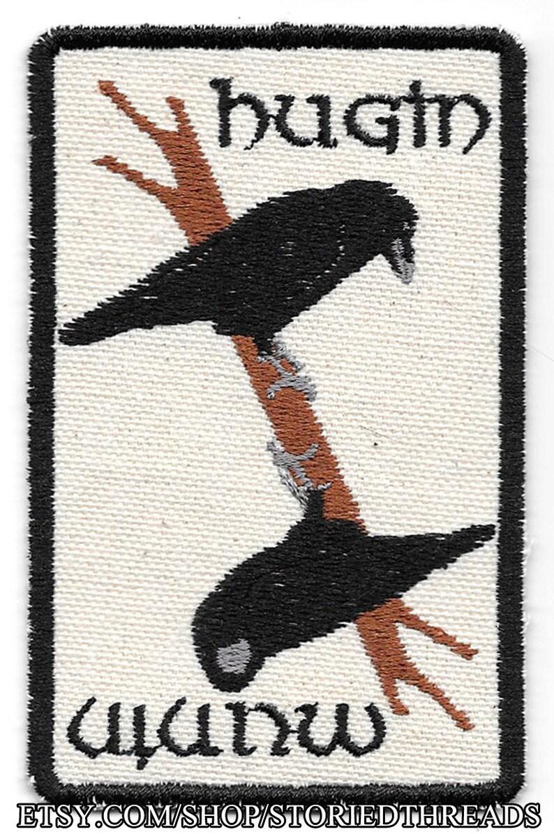 Norse Mythology Hugin and Munin Ravens Patch image 0