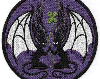 CloverFae Twins DemonFae Fabric Art Patch - Choice of Colors