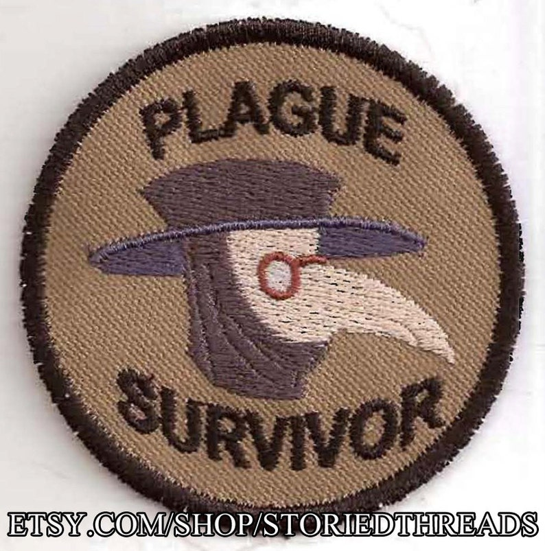 Plague Survivor Geek Merit Badge Patch image 0