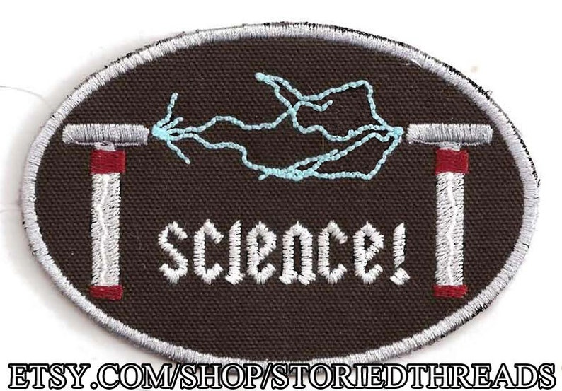 Tesla Coils Science Patch Glow in the Dark image 0