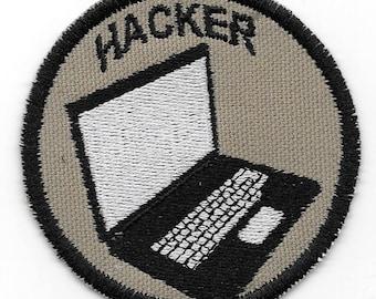 Computer Hacker Geek Merit Badge Patch