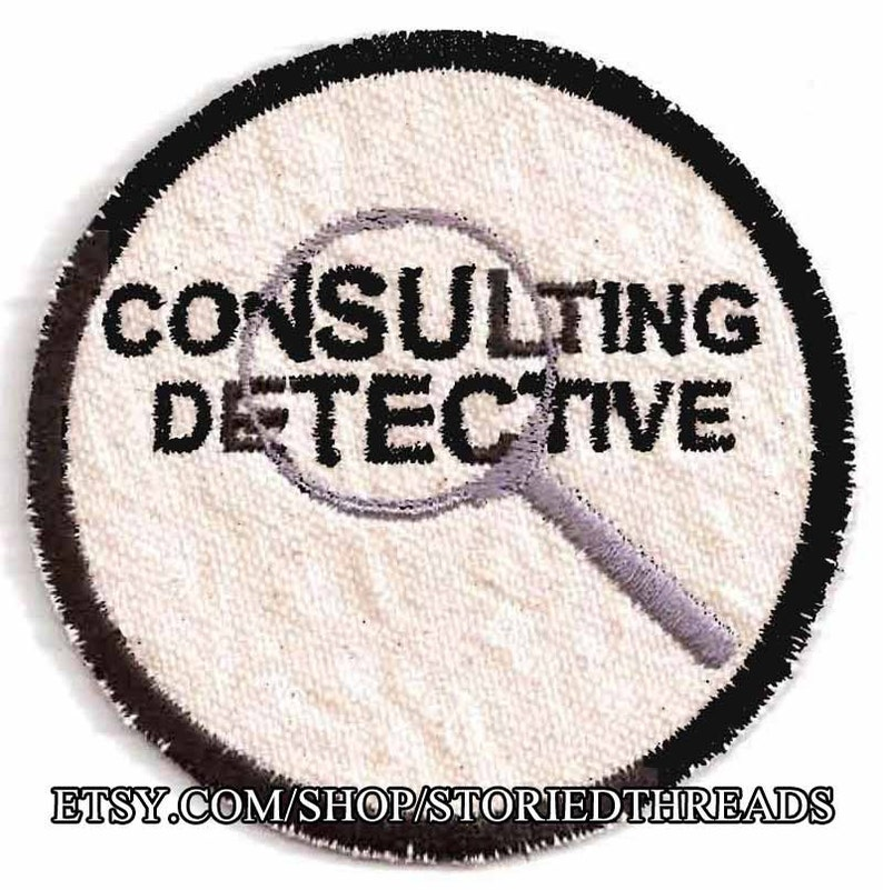 Sherlock Holmes Consulting Detective Patch image 0