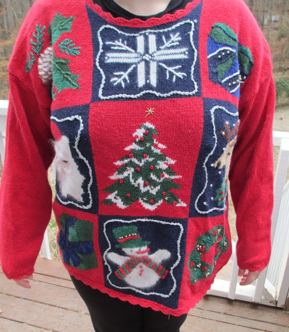 Tacky Christmas sweater, tacky sweater, tacky swea