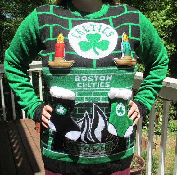 Tacky Christmas Sweater.Ugly Sweater Ugly Christmas Sweater Boston Celtics Tacky Christmas Sweater Christmas Sweater Ugly Sweater Party Tacky Sweater Party