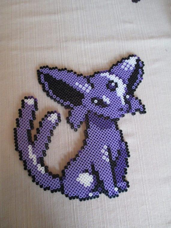 Espeon Perler Perlers Perler Art Pokemon Pokemon Art Etsy