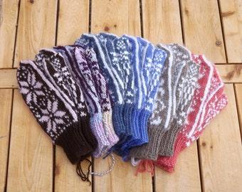 Custom Womens Wool & Baby Alpaca Mittens