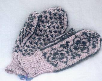 Womens Wool/Baby Alpaca Mittens
