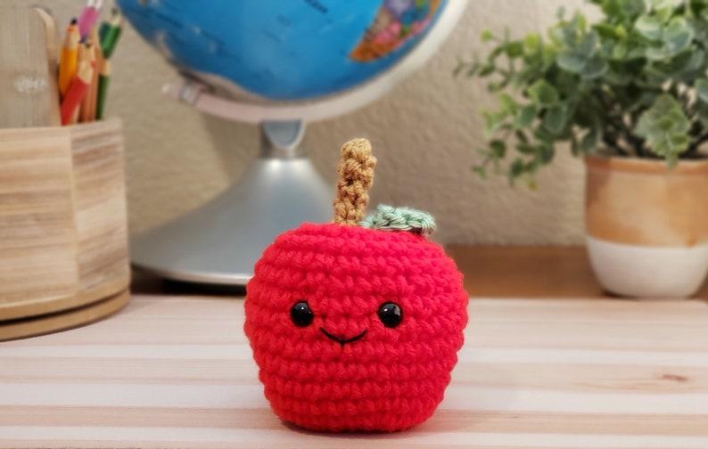 Crochet Apple Back to School End of Year Teacher Student Gift