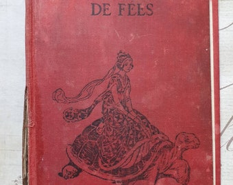 """Very old French Red Book Cover 7"""" x 4 1/2"""""""
